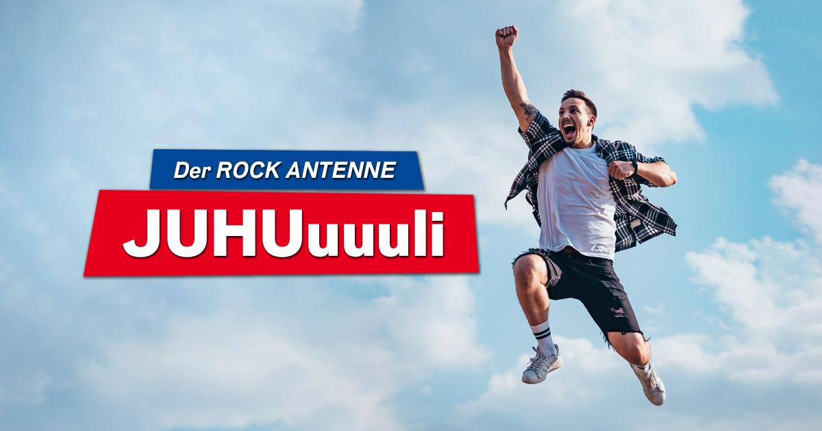 Der ROCK ANTENNE Juhuli: Täglich mitspielen, rocken und jubeln!