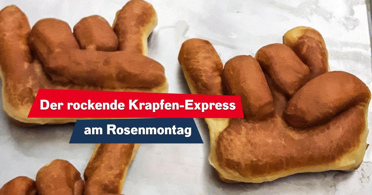 Rosenmontag rockt: Holt euch unsere Rock-Krapfen für eure Firma!