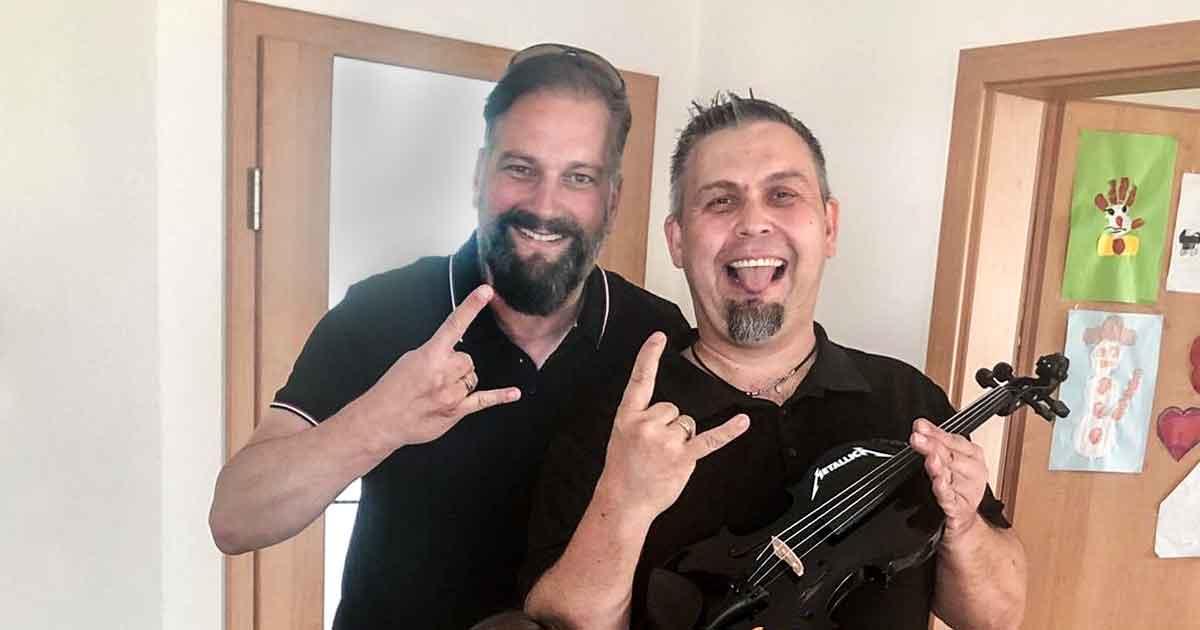 Der Master of Metallica: Daniel holt sich unsere MetalliGEIGE!