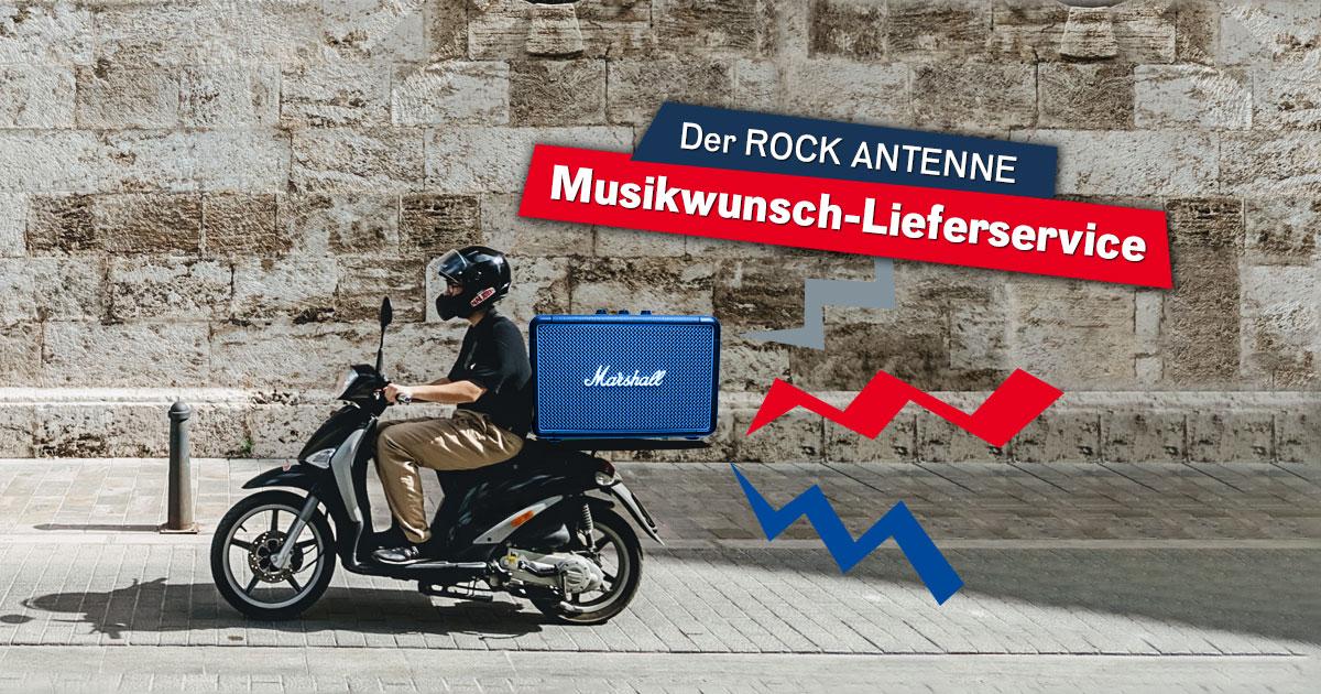 Der ROCK ANTENNE Musikwunsch-Lieferservice