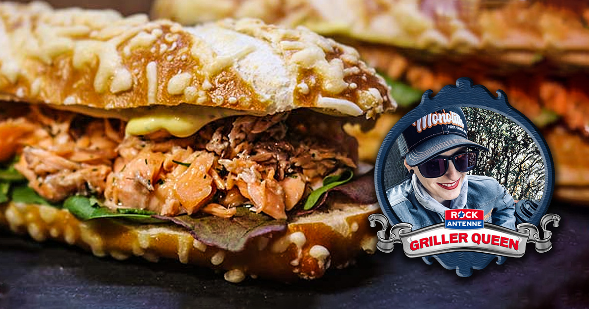 SALMON IN YOUR MOUTH: Pulled Lachs Sandwich