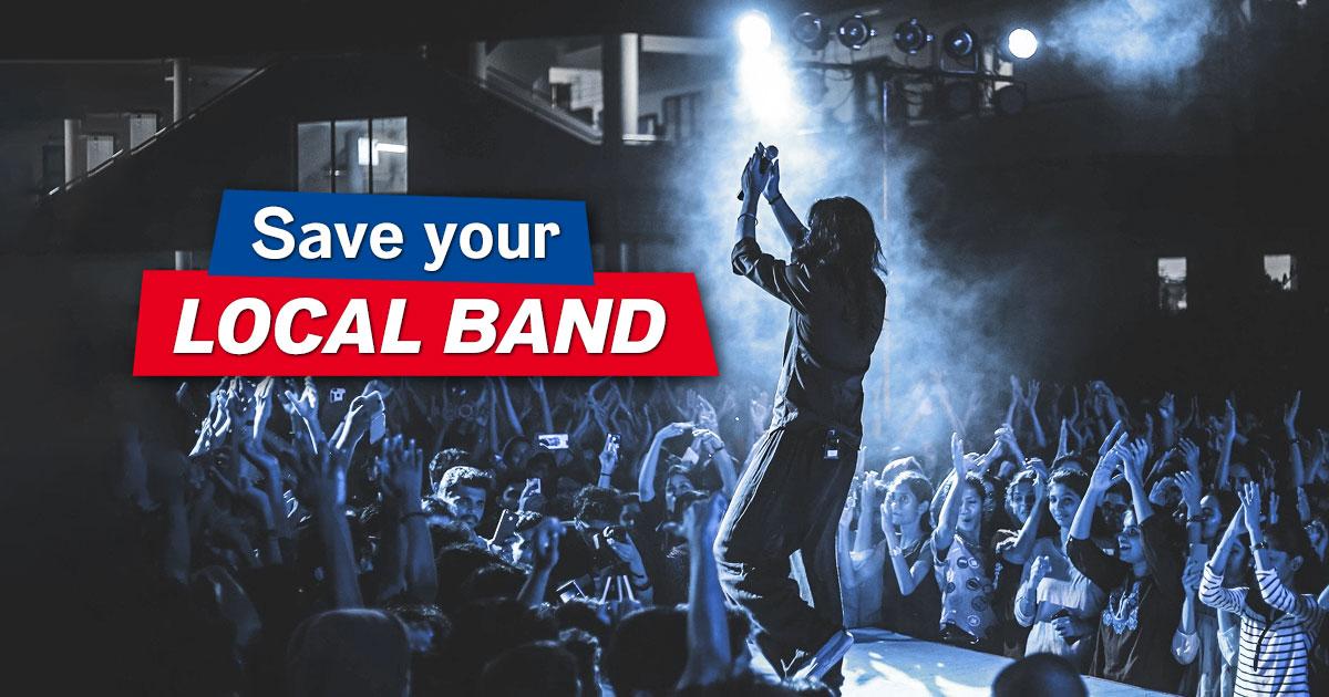 Gemeinsam unterstützen wir die Bands aus der Nachbarschaft!