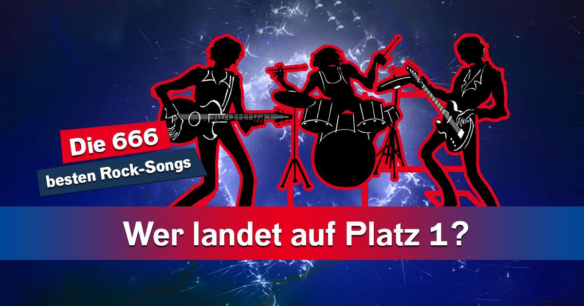 Eure 666 besten Rock-Songs: Platz 1 tippen und 666 Euro kassieren!