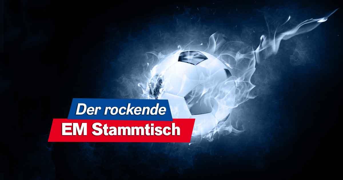 Portugal - Deutschland: Tobi Sammet im EM Talk & ITCHY als ROCK ANTENNE-Reporter im Stadion