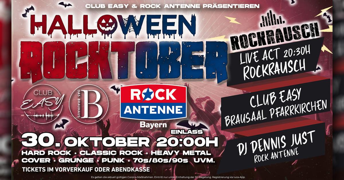 30.10.2021: ROCK ANTENNE Rocktober / Club Easy Pfarrkirchen