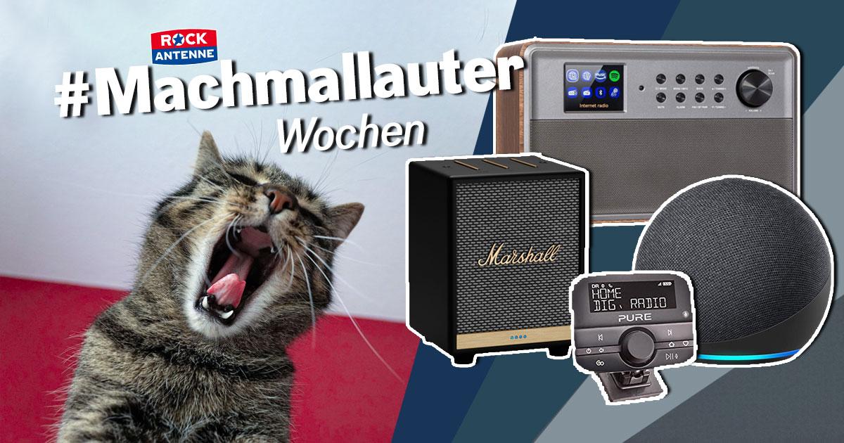 Die #Machmallauter Wochen: Anmelden, Lieblingsstream verraten & mit neuen Geräten aufdrehen!