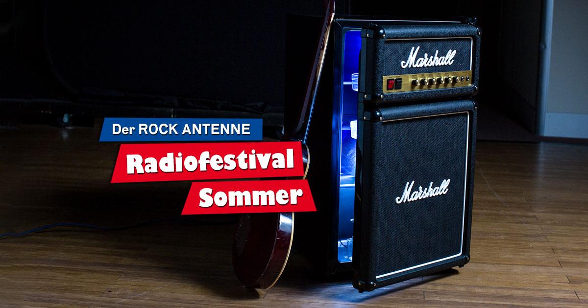 ROCK ANTENNE Radiofestival Sommer: Mitmachen & Marshall Kühlschrank geschenkt bekommen!