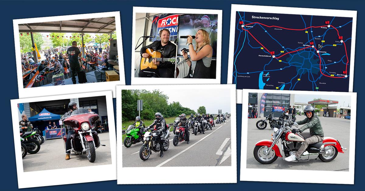 Das Programm der 8. ROCK ANTENNE Motorradtour am 26.05.2019