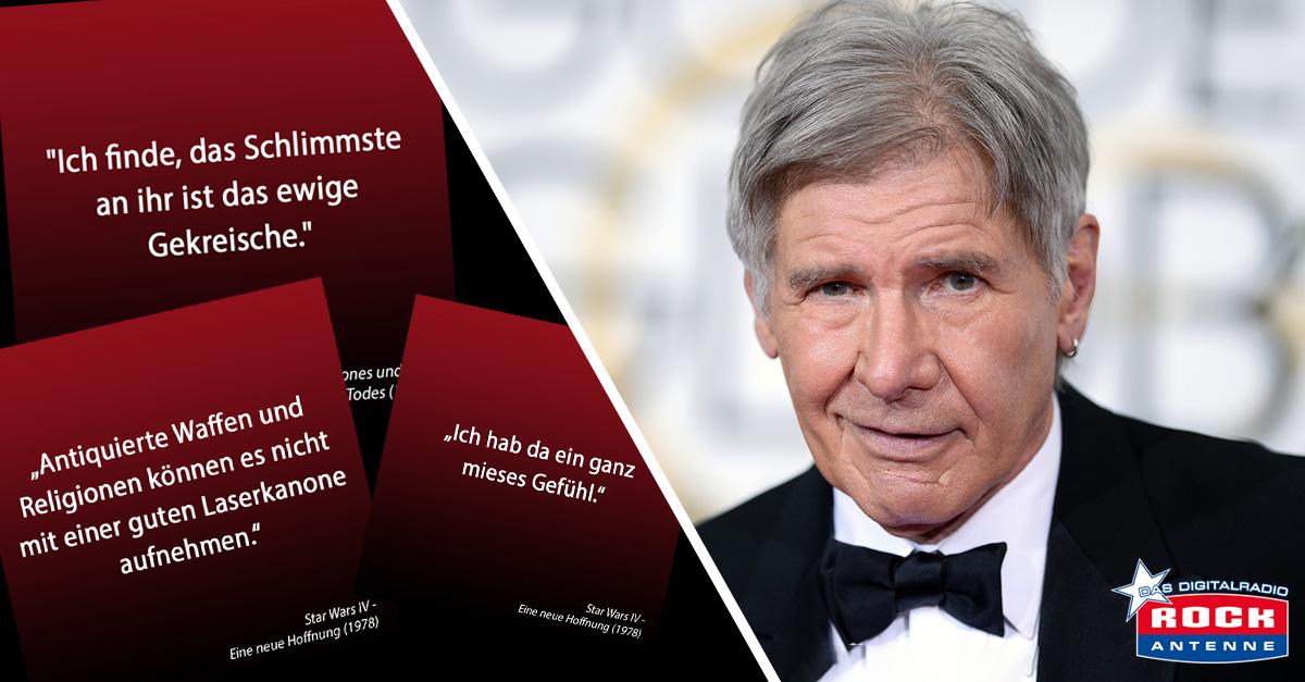 Harrison Ford feiert 75. - Wir suchen das beste Zitat von Han Solo bis Indy!