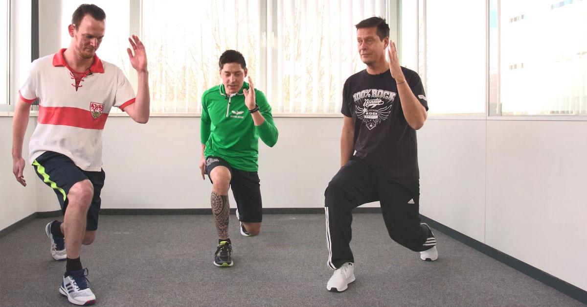 Die ROCK ANTENNE Fitness-Woche Tag 4: Ausfallschritt