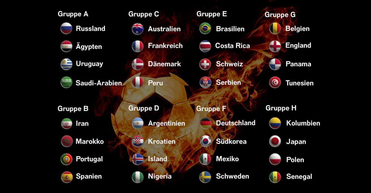 WM 2018 in Russland: Hier gibt's den gesamten Spielplan