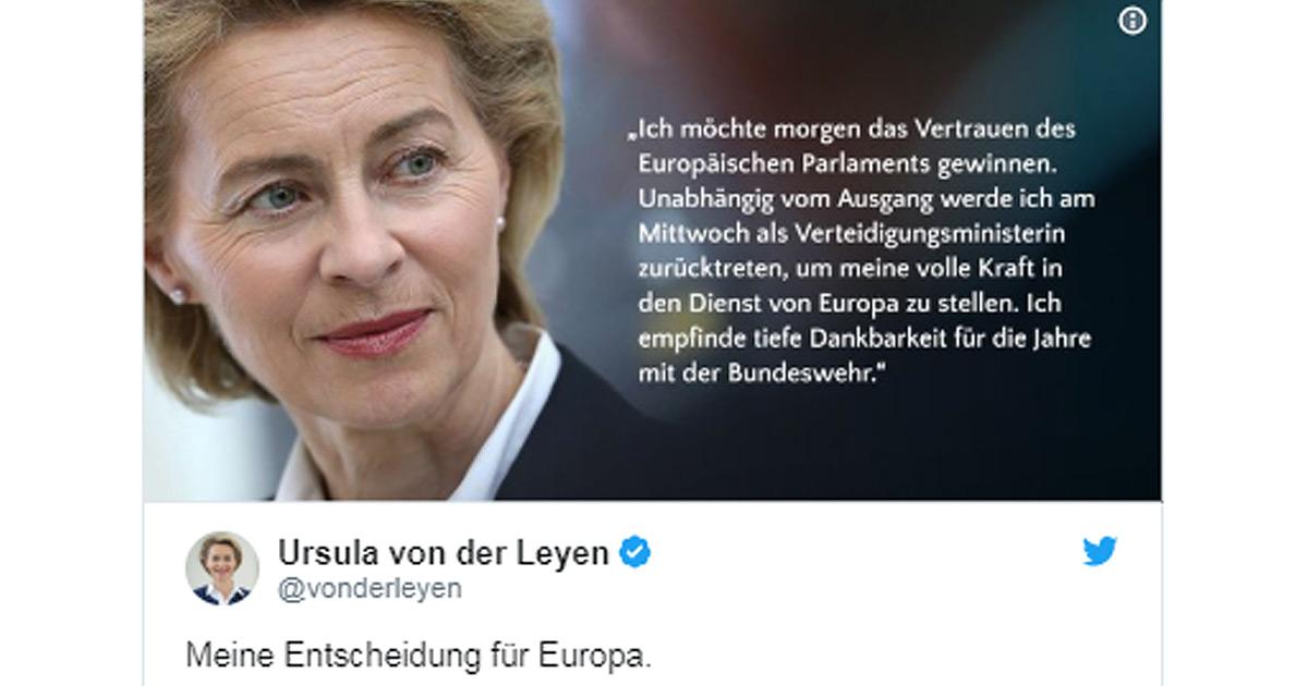 Von der Leyen: Verteidigungsministerin kündigt Rücktritt an