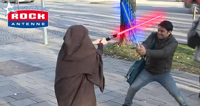 Star Wars Laserschwert Prank - der Machttest mit ROCK ANTENNE