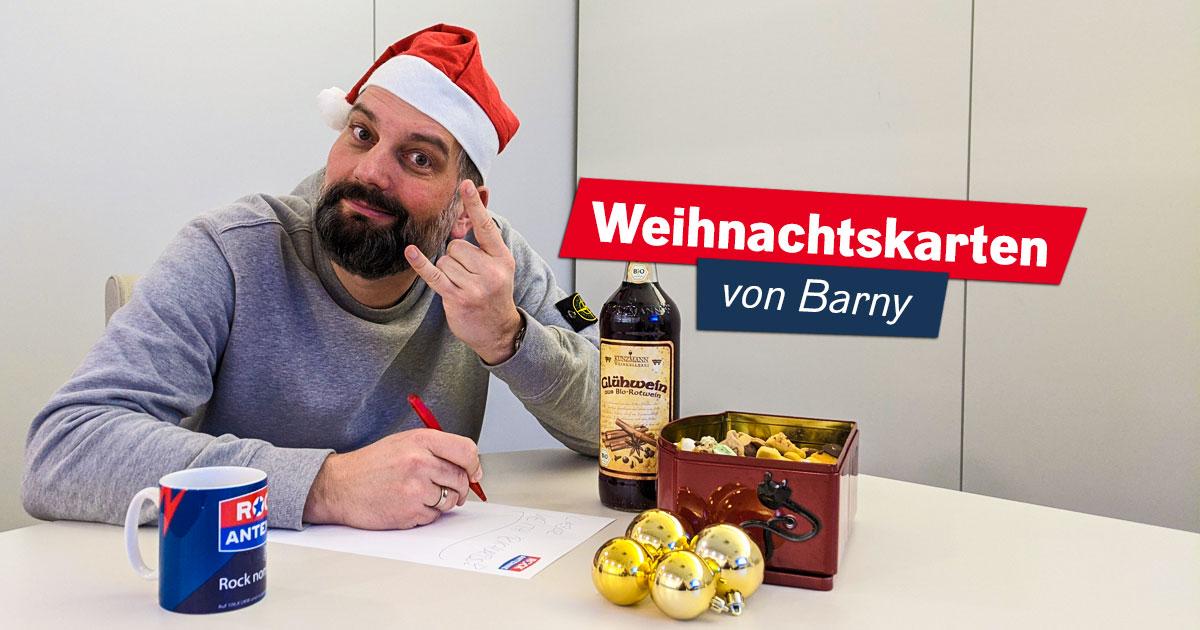 Frohe Barnsteinachten: Barnys Weihnachtskarten an die Rockstars zum Nachhören