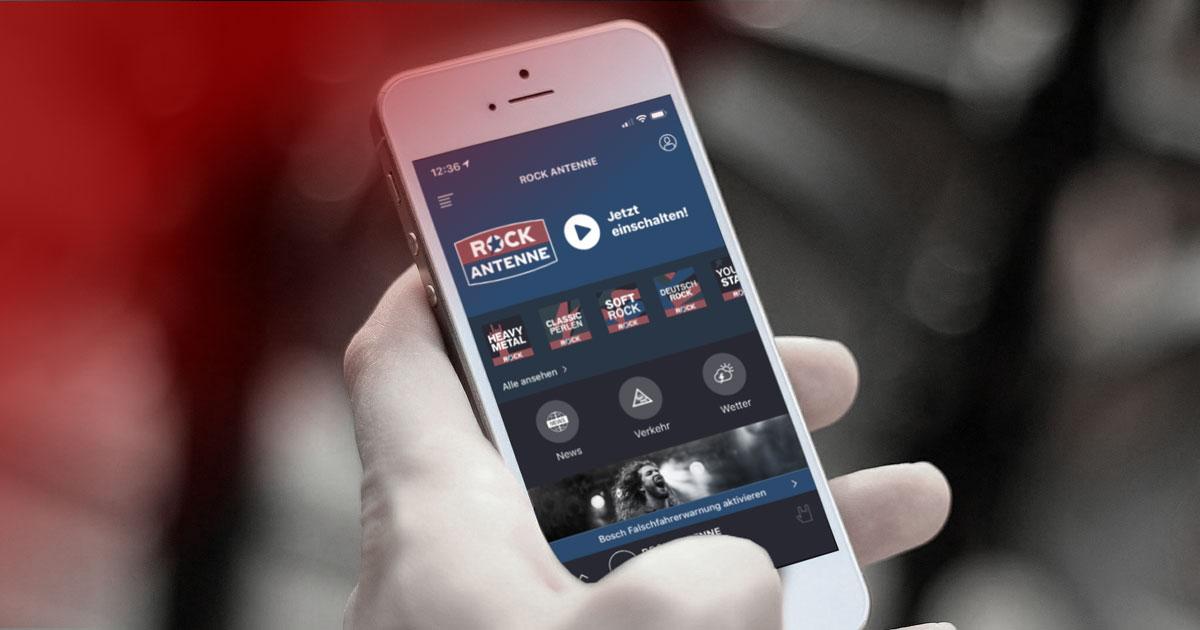 Den besten Rock nonstop immer dabei: Gleich unsere Radio-App downloaden!