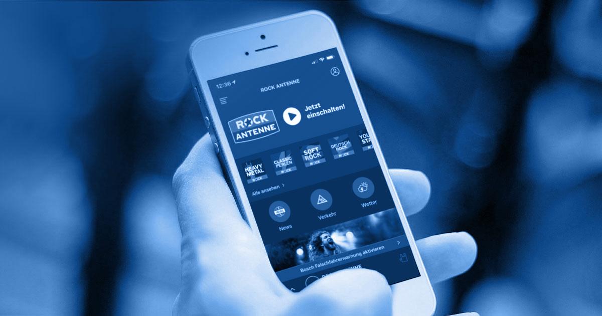Gleich downloaden: Die kostenlose ROCK ANTENNE Radio-App
