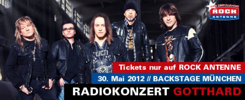 ROCK ANTENNE-Radiokonzert mit Gotthard