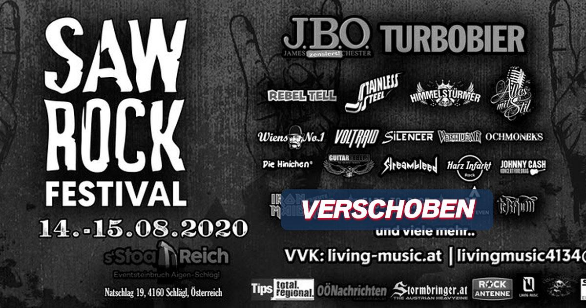 Verschoben auf 2021: SAW ROCK Festival / Schlägl (AT)