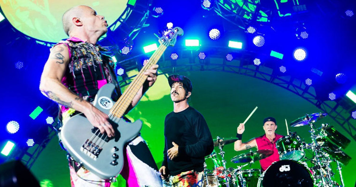 Red Hot Chili Peppers: Live-Show vor den Pyramiden von Gizeh