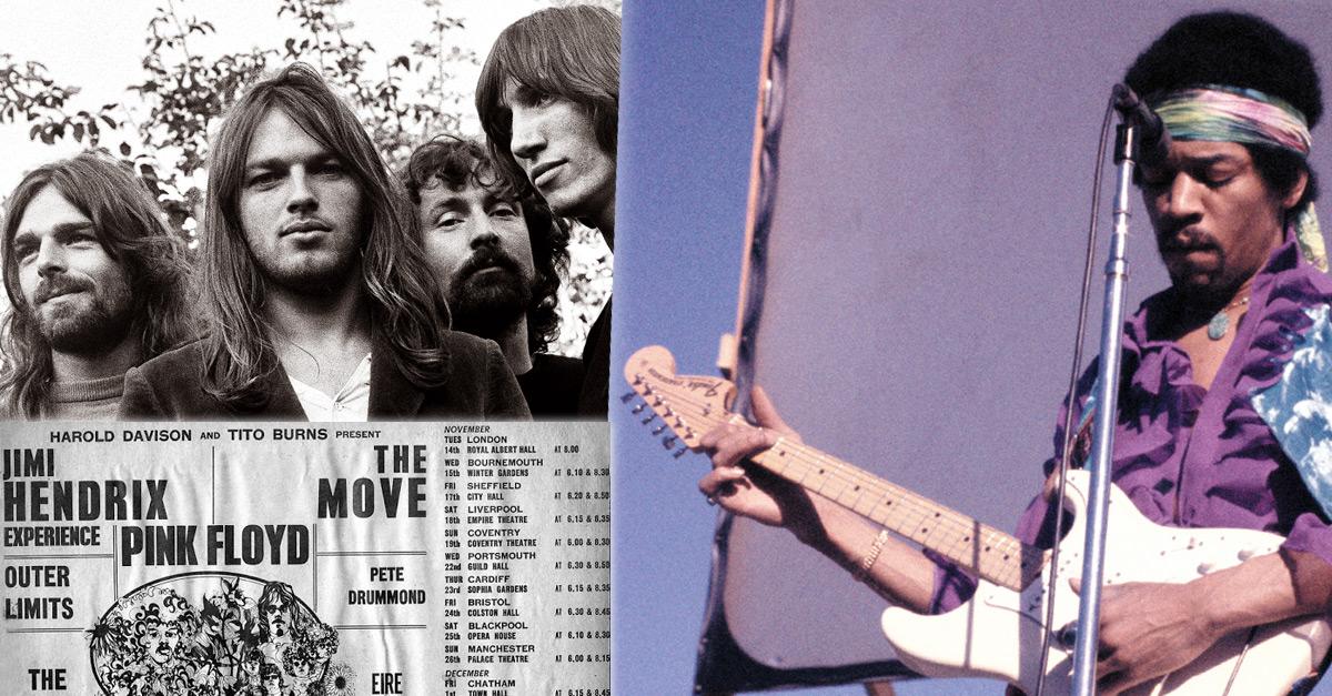 Pink Floyd mit Jimi Hendrix und weitere legendäre Doppel