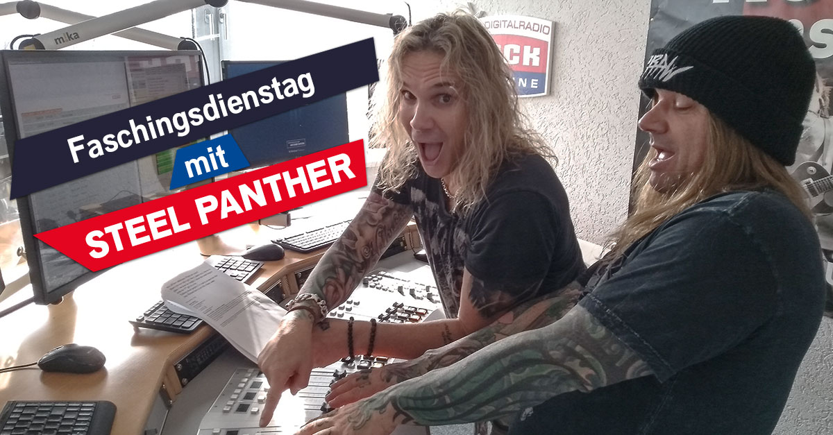 """Party freakin' hardy!"" - Die Faschings-Show mit Steel Panther"