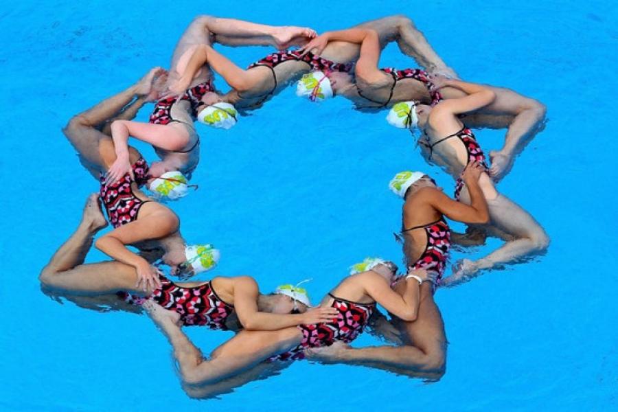 So macht Synchronschwimmen Spaß!