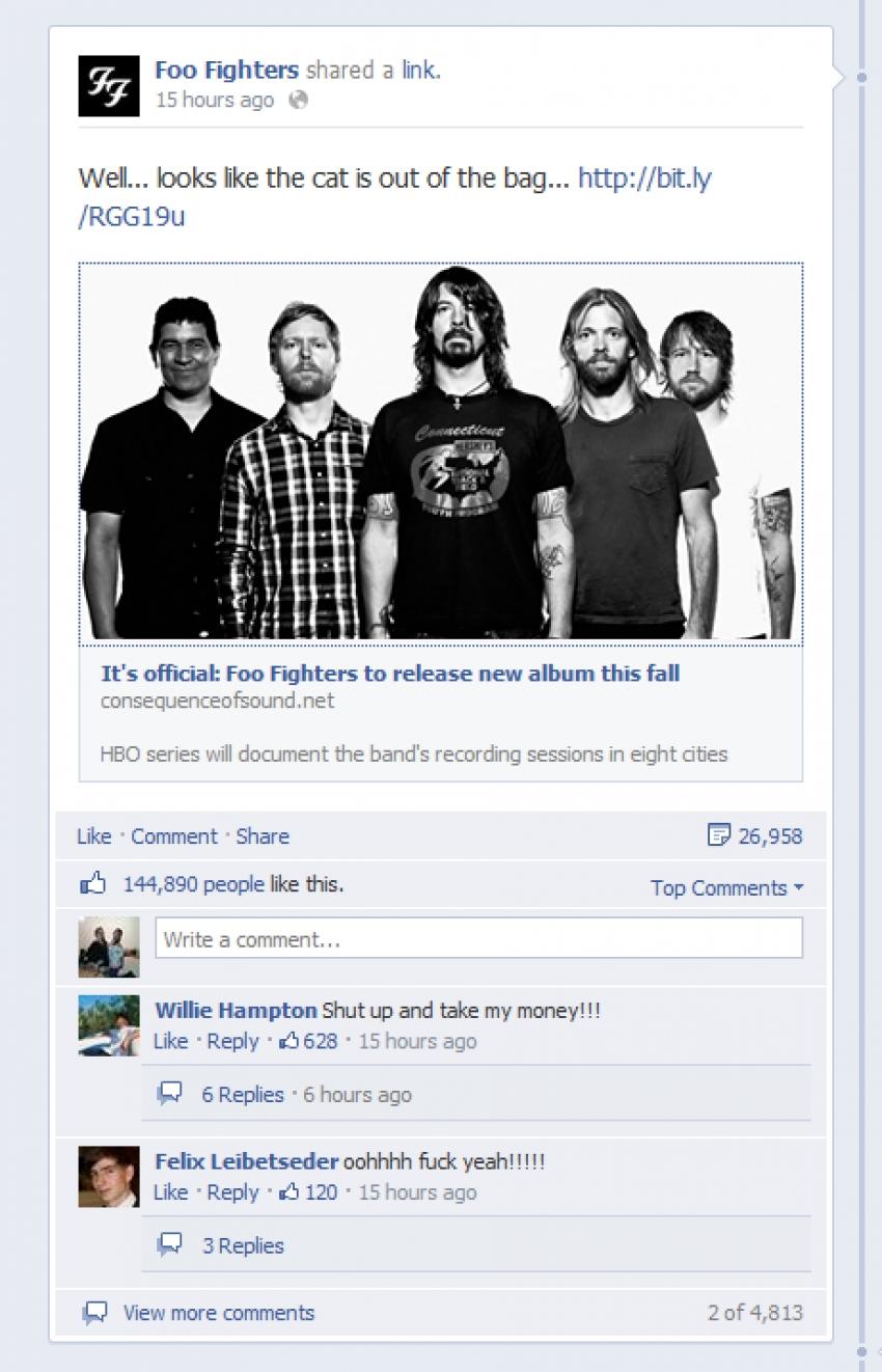 Die Foo Fighters versprechen einen goldenen Herbst