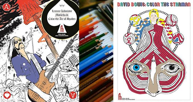Lemmy und David Bowie zum Ausmalen - diese Malbücher rocken!
