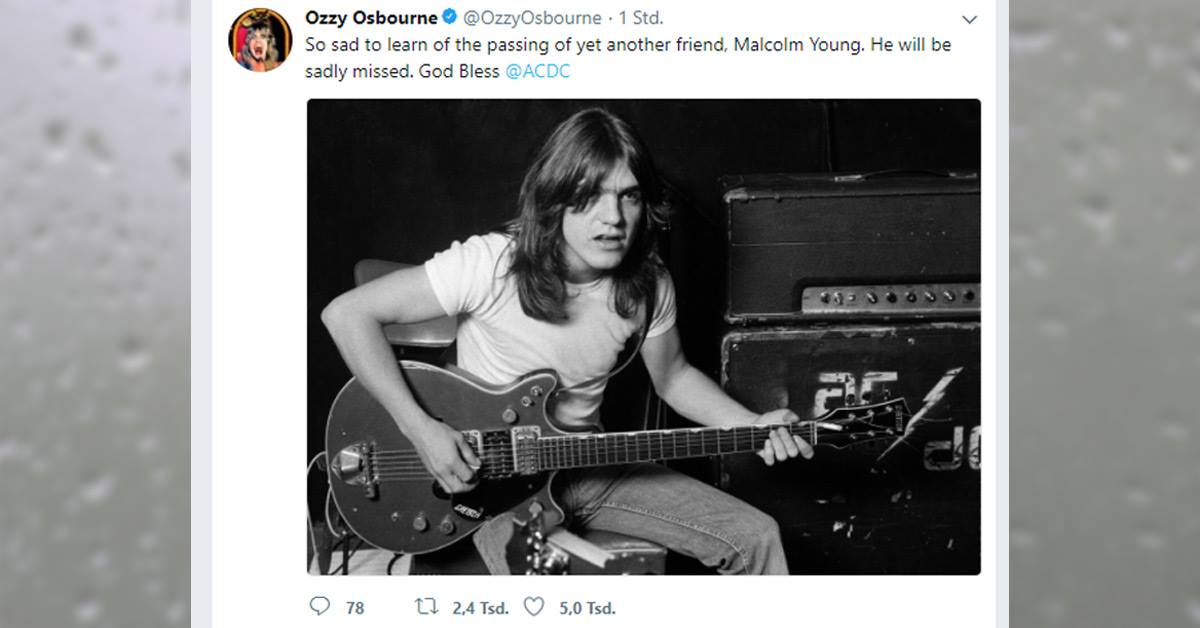 AC/DC-Gitarrist Malcolm Young ist tot: So reagiert die Rockwelt