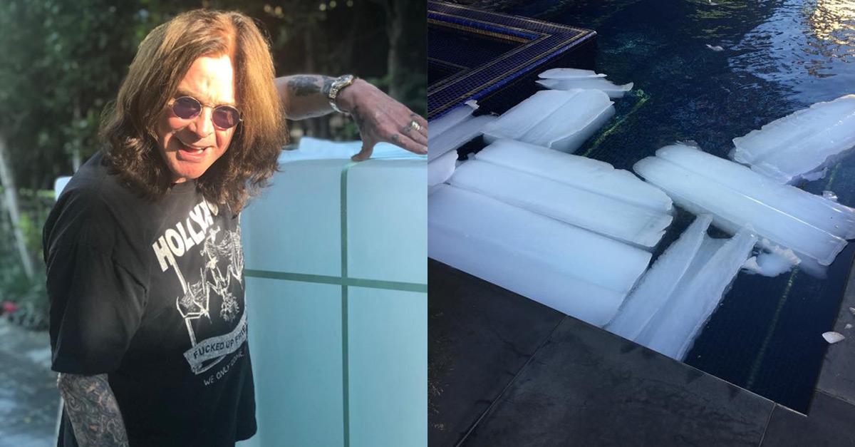 Zu heiß gebadet: Ozzy Osbourne kippt 1,5 Tonnen Eis in seinen Pool