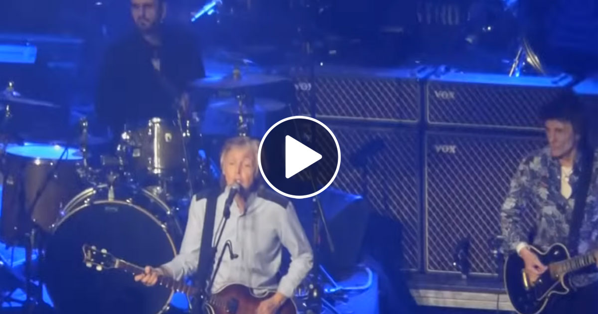 "Video: Paul McCartney, Ronnie Wood und Ringo Starr performen ""Get Back"""