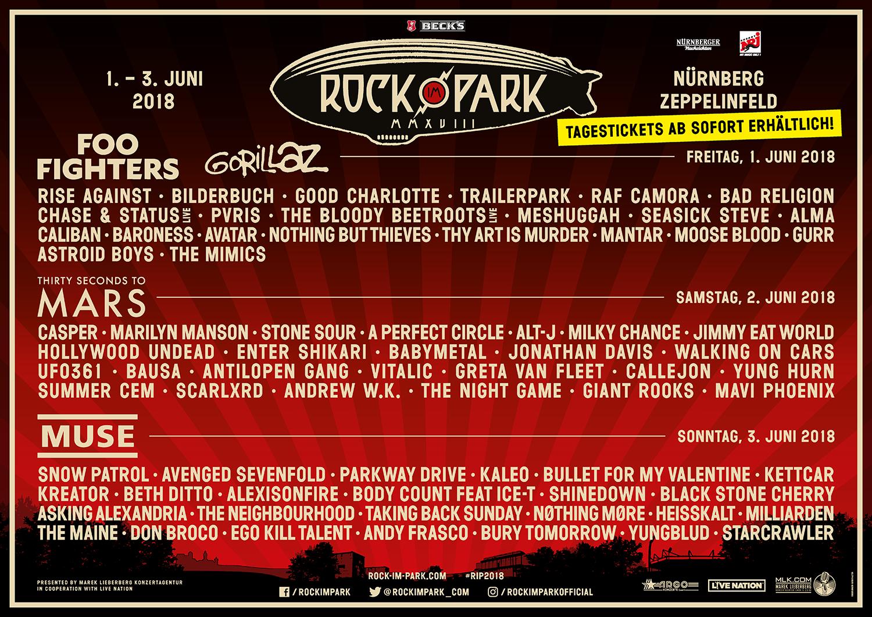 Rock im Park/Rock am Ring 2018: Der Spielplan steht | ROCK ...