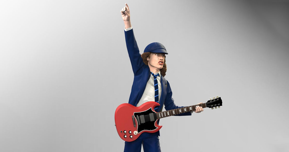 AC/DC: Angus Young als Actionfigur
