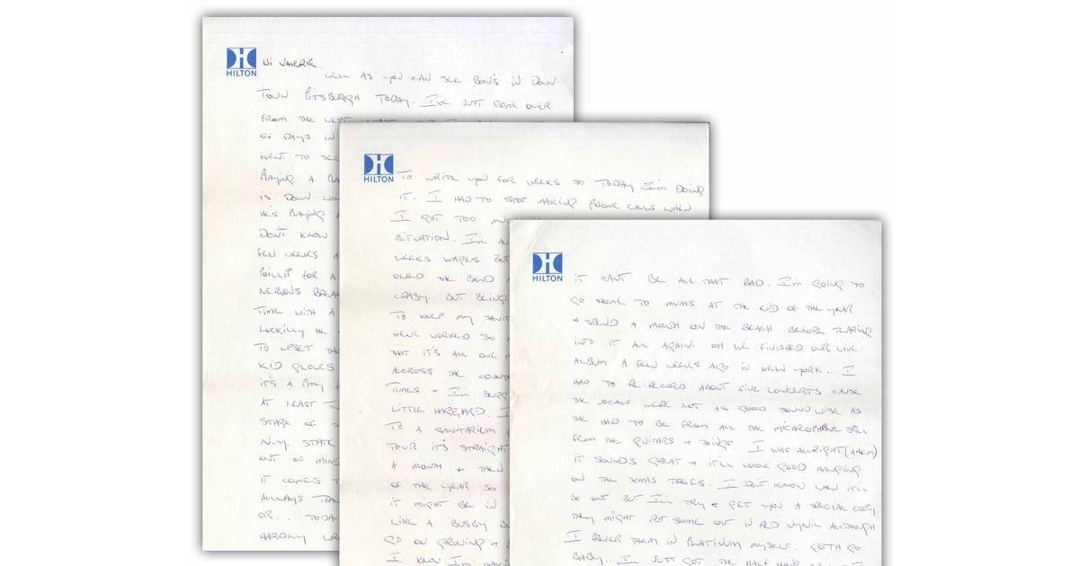 AC/DC: Lest hier einen Brief von Bon Scott von 1978