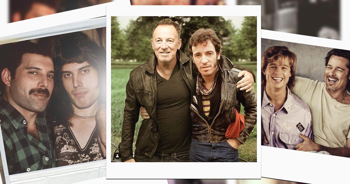 Foto-Flashback: Dieser Photoshop-Künstler zeigt Rockstars jung und alt