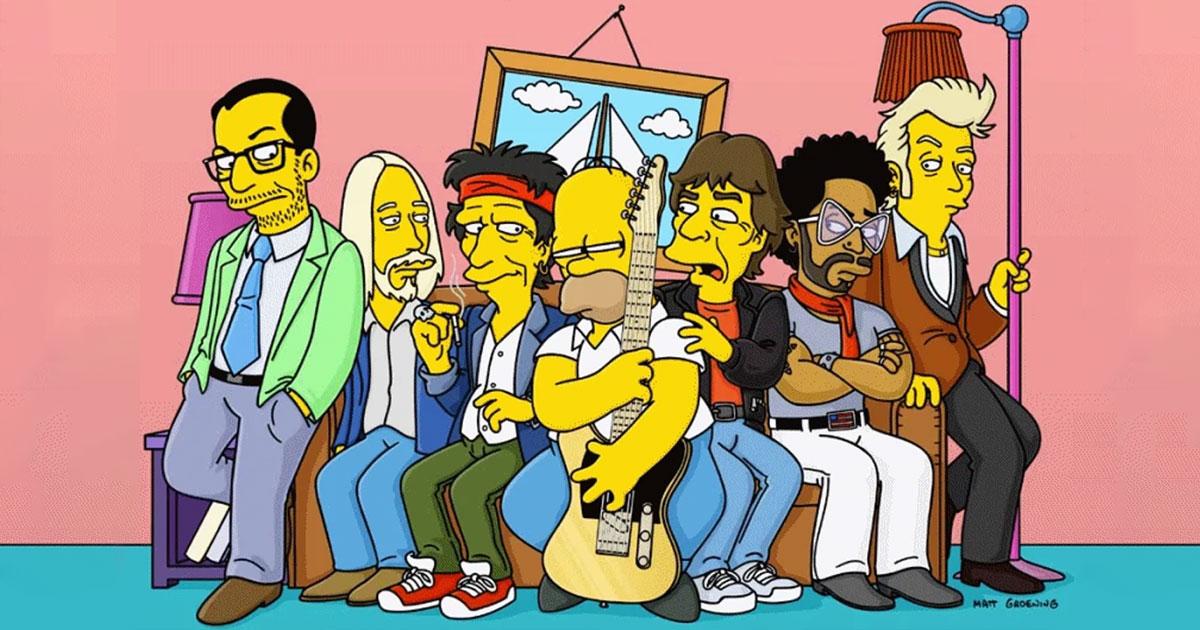 Zum Geburtstag von Matt Groening: Diese Rockstars waren bei den Simpsons