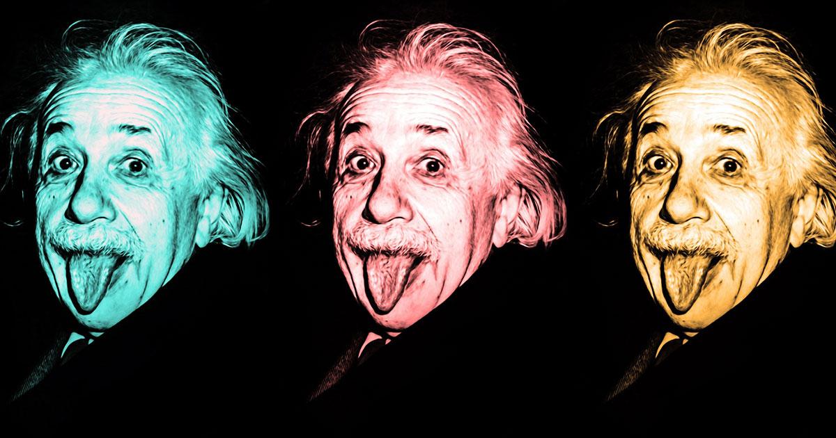 Die 10 besten Rock-Songs... für Albert Einstein