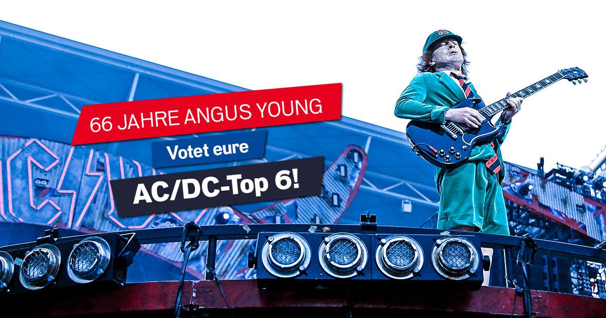 6 zum 66. von Angus Young: Welche Songs gehören auf eure AC/DC-Partyplaylist?