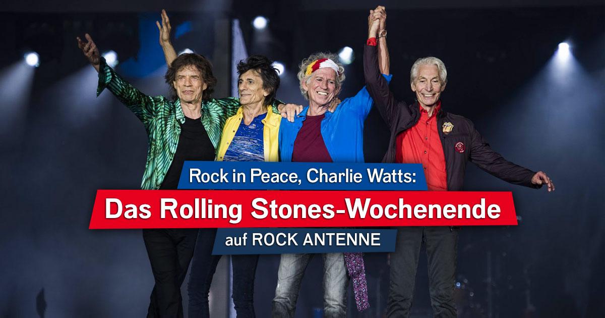 Rock in Peace, Charlie Watts: Das Rolling Stones-Spezialwochenende auf ROCK ANTENNE