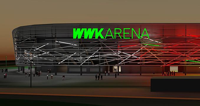 Da strahlt Augsburg: Stadion des FC Augsburg bekommt neue Fassade