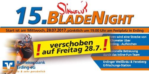 Sinnflut 2017: BladeNight wird verschoben auf 28.07.