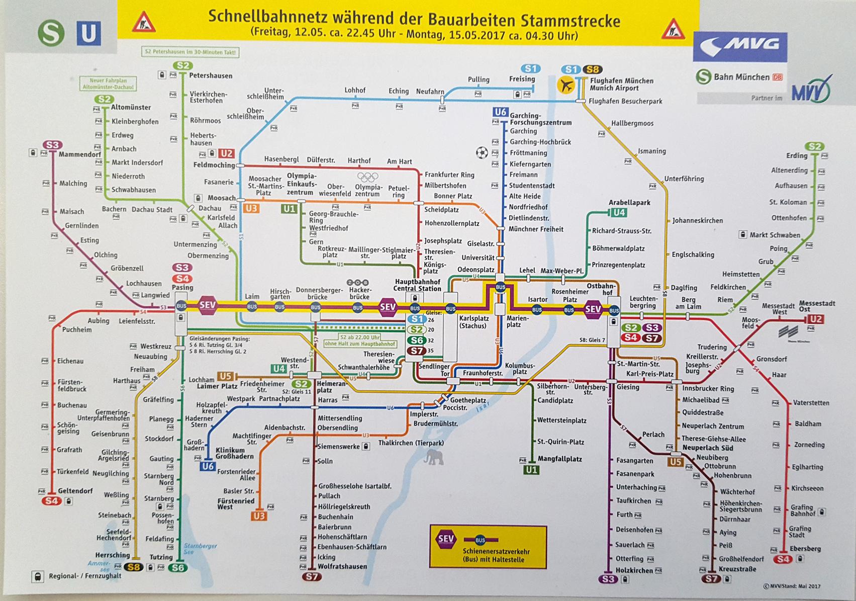 München Alle Infos Zur Stammstrecken Sperrung Von 12 155