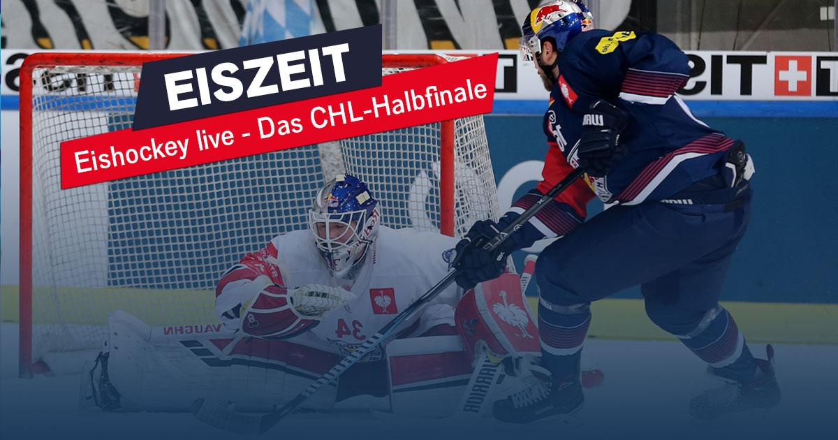 Eiszeit am Mittwoch: Der CHL-Halbfinale live im Radio!