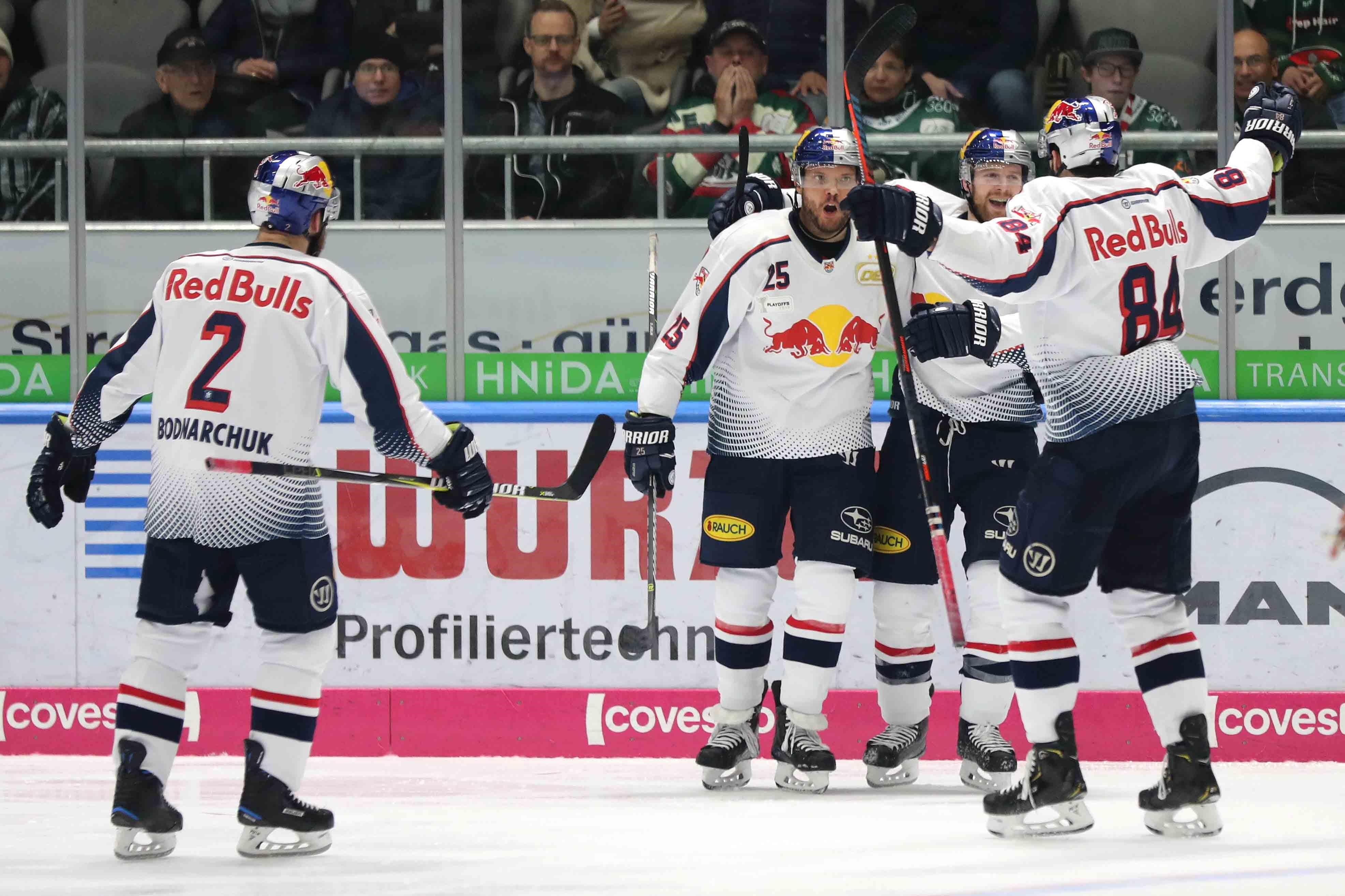 DEL - Playoffs: Red Bulls gleichen Halbfinalserie in Augsburg aus