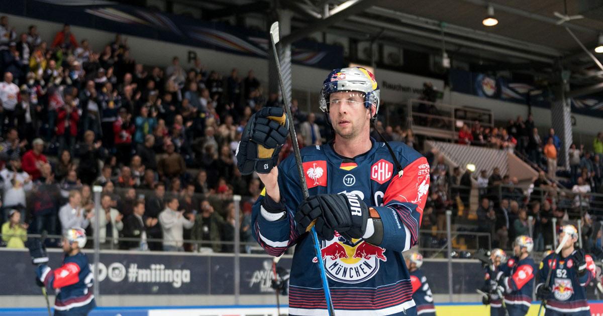 EHC Red Bull München: Michael Wolf beendet nach der Saison seine Karriere