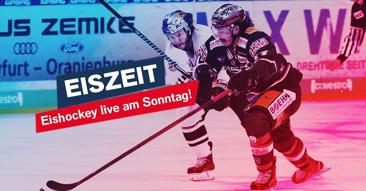 Eiszeit am Sonntag: Der Kampf um die Meisterschaft live im Radio!