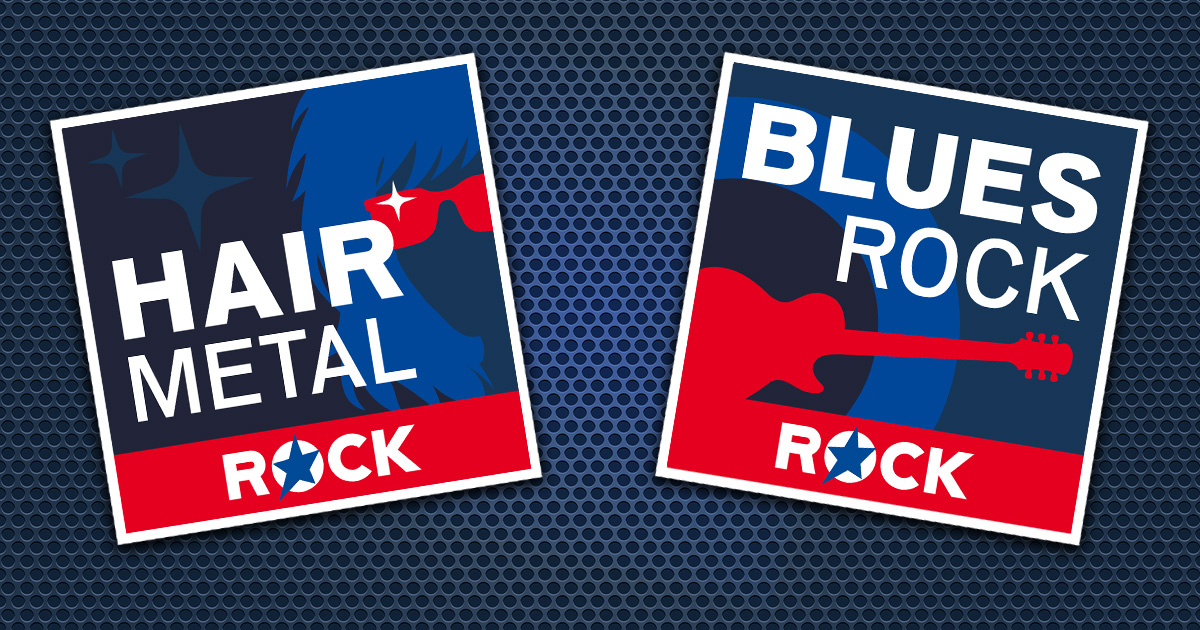 Neu in den ROCK ANTENNE Streams: HAIR METAL & BLUES ROCK!