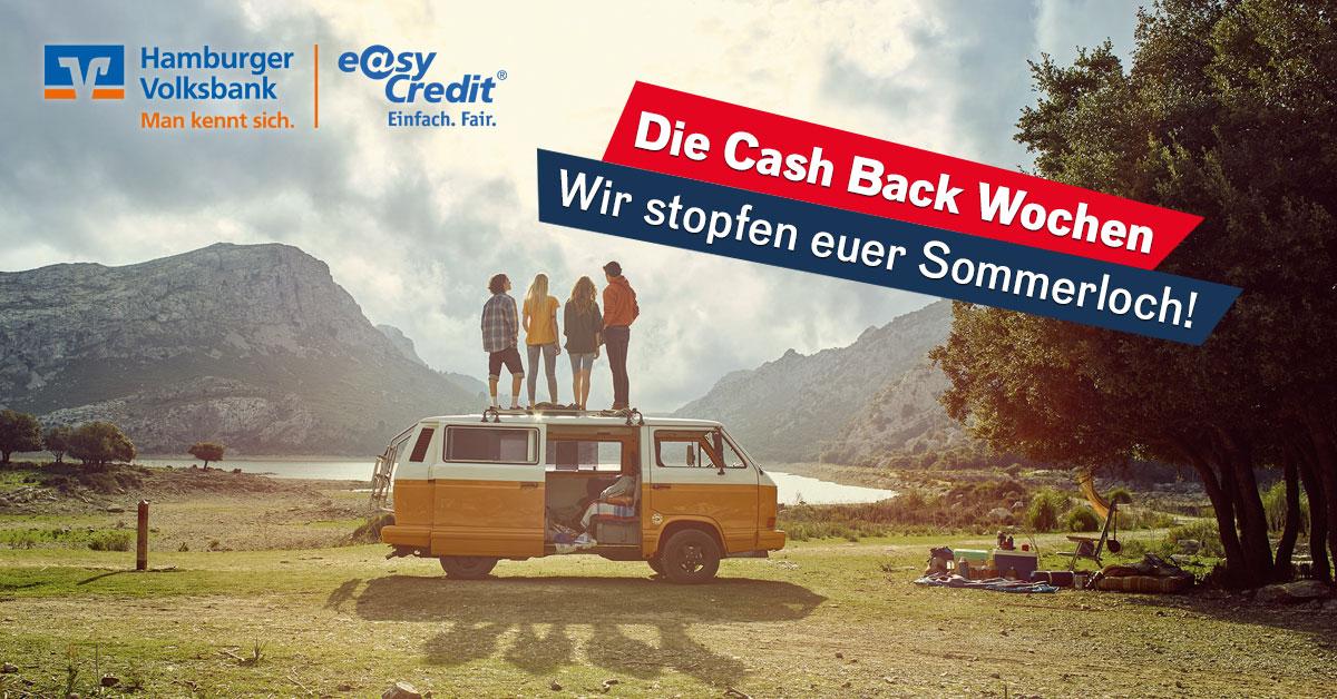 Die Cash Back-Wochen: Anmelden