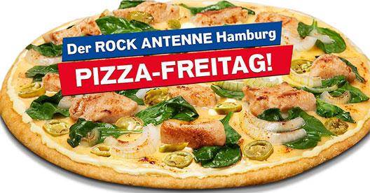 Anmelden, abmampfen: Der ROCK ANTENNE Hamburg Pizza-Freitag!