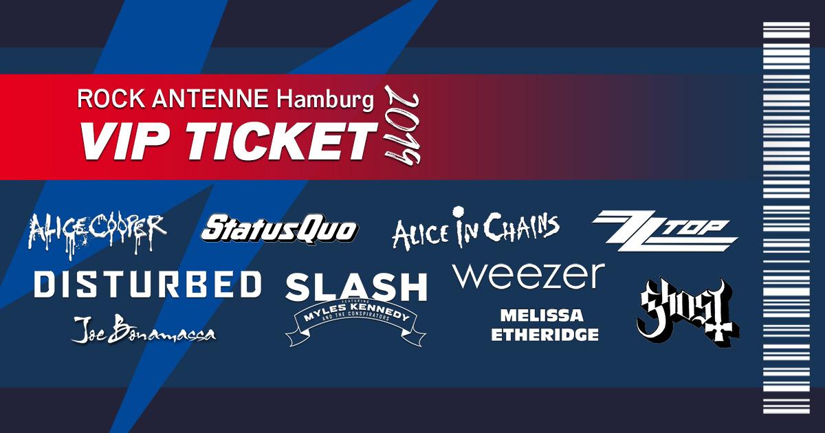 Das ROCK ANTENNE Hamburg VIP Ticket: Erlebt das Konzertjahr eures Lebens!